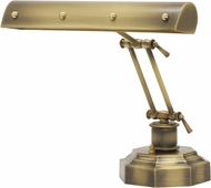 House of Troy PB14-203-AB-PB Piano/Desk Antique Brass with Polished Brass Accents Ball Motif Piano Lamp