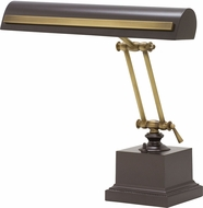 House of Troy PS14-202-MB-AB Piano/Desk Mahogany Bronze with Antique Brass Accents Strap Motif Piano Light