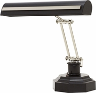 House of Troy PS14-203-BLK-PN Piano/Desk Black with Polished Nickel Accents Strap Motif Piano Lamp