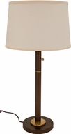 House of Troy RU750-CHB Rupert Chestnut Bronze with Weathered Brass Accents Table Light
