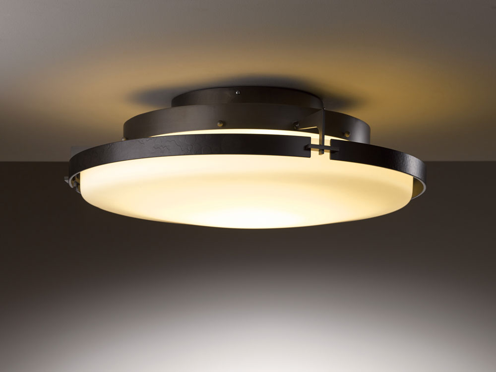 hubbardton forge 126747d metra 24 3 wide led ceiling light fixture hub 126747d
