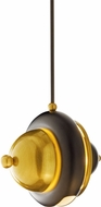 Hubbardton Forge 18885 Bob Brass w/ Black Mini Lighting Pendant