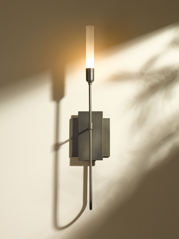 hubbardton forge 203050 lisse 22 1 u0026quot  tall wall sconce