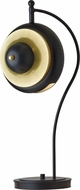 Hubbardton Forge 272845 Bob Brass w/ Black Table Light