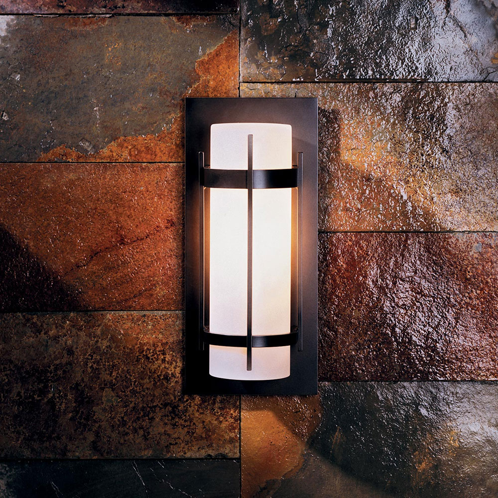 Outdoor Wall Sconce Led Light : Hubbardton Forge 305892 Banded LED Outdoor Wall Sconce Lighting - HUB-305892