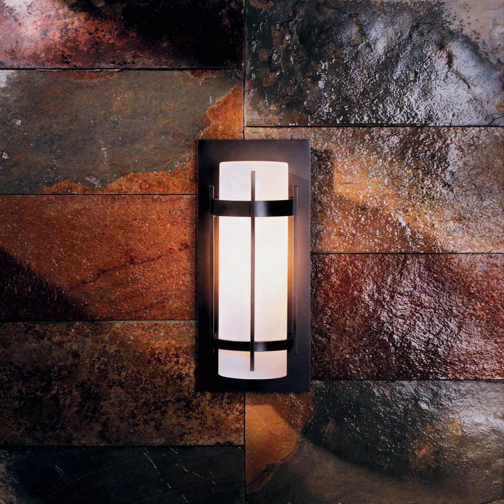 Hubbardton forge 305893 banded led exterior wall light for Exterior led lights