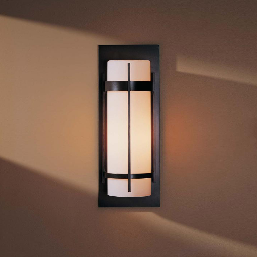Hubbardton forge 305894 banded led outdoor lighting wall sconce hub 305894 for Exterior light sconce