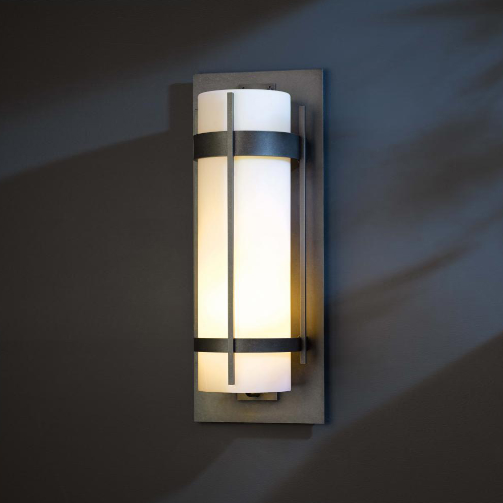Led Wall Sconce Fixtures : Hubbardton Forge 305895 Banded LED Exterior Wall Lighting Sconce - HUB-305895
