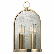 Hudson Valley 092-AGB Lowell Vintage Aged Brass Finish 7.75  Wide Light Sconce