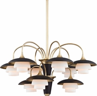 Hudson Valley 1009-AGB Barron Aged Brass Chandelier Light