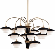Hudson Valley 1015-AGB Barron Aged Brass Lighting Chandelier