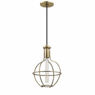 Hudson Valley 1051-AGB Colebrook Retro Aged Brass Mini Pendant Lamp