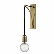 Hudson Valley 1101-AGB Marlow Modern Aged Brass Xenon Sconce Lighting