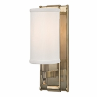 Hudson Valley 1121-AGB Palmdale Aged Brass Finish 4.5  Wide Wall Light Fixture
