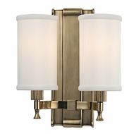 Hudson Valley 1122-AGB Palmdale Aged Brass Finish 12  Tall Wall Sconce Lighting