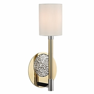 Hudson Valley 1211-PBN Burbank Polished Brass/Nickel Finish 16  Tall Wall Light Sconce
