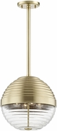 Hudson Valley 1214-AGB Easton Modern Aged Brass Pendant Lamp