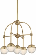 Hudson Valley 1223-AGB Boca Modern Aged Brass LED Mini Chandelier Light