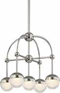 Hudson Valley 1223-PN Boca Contemporary Polished Nickel LED Mini Chandelier Lighting