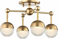 Hudson Valley 1223F-AGB Boca Contemporary Aged Brass LED Ceiling Lighting