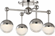 Hudson Valley 1223F-PN Boca Modern Polished Nickel LED Ceiling Light