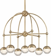 Hudson Valley 1227-AGB Boca Modern Aged Brass LED Mini Lighting Chandelier