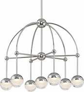 Hudson Valley 1227-PN Boca Contemporary Polished Nickel LED Mini Chandelier Lamp