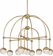 Hudson Valley 1230-AGB Boca Modern Aged Brass LED Chandelier Light