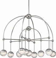 Hudson Valley 1230-PN Boca Contemporary Polished Nickel LED Ceiling Chandelier