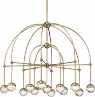 Hudson Valley 1233-AGB Boca Modern Aged Brass LED Hanging Chandelier