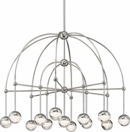 Hudson Valley 1233-PN Boca Contemporary Polished Nickel LED Chandelier Light