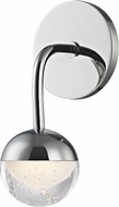 Hudson Valley 1241-PC Boca Contemporary Polished Chrome LED Wall Mounted Lamp