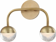 Hudson Valley 1242-AGB Boca Modern Aged Brass LED 2-Light Bathroom Lighting