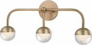 Hudson Valley 1243-AGB Boca Modern Aged Brass LED 3-Light Bath Lighting