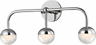 Hudson Valley 1243-PC Boca Contemporary Polished Chrome LED 3-Light Bathroom Light