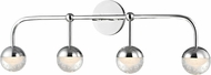 Hudson Valley 1244-PC Boca Contemporary Polished Chrome LED 4-Light Vanity Lighting