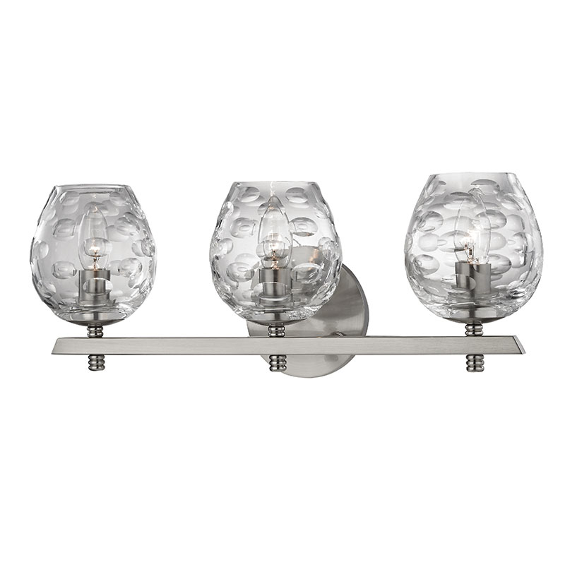 Bathroom Lighting Fixtures Polished Nickel hudson valley 1253-sn burns contemporary satin nickel 3-light