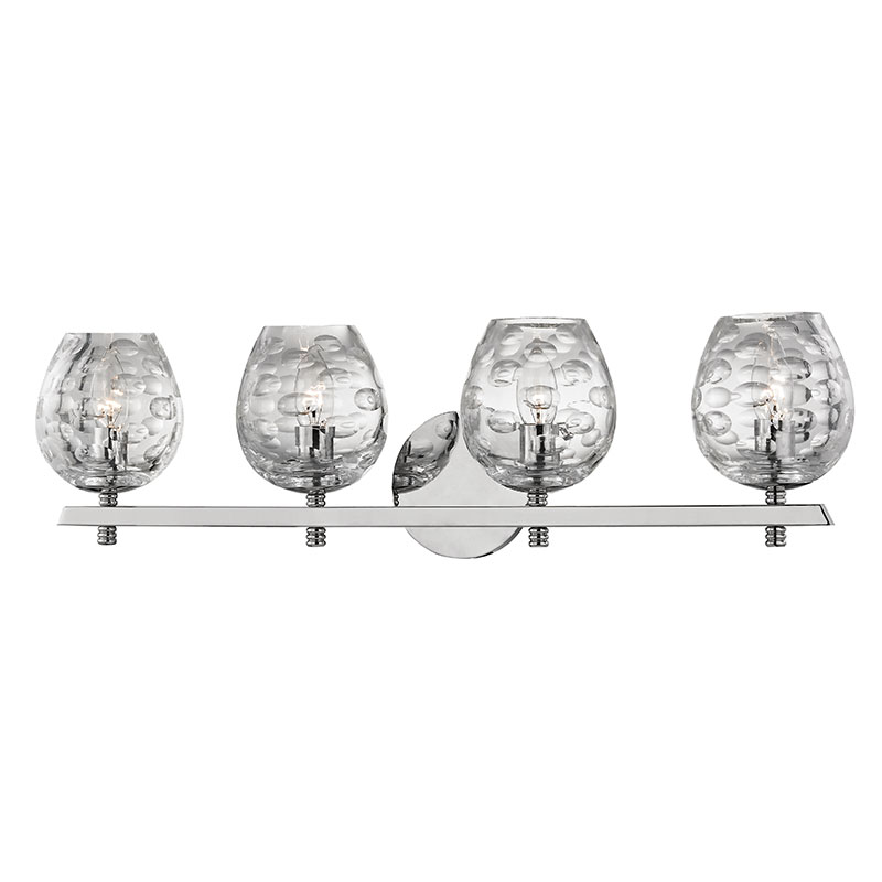 Hudson Valley 1254 PN Burns Modern Polished Nickel 4 Light Bathroom Vanity  Lighting. Loading Zoom