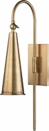 Hudson Valley 1300-AGB Alva Modern Aged Brass Wall Light Sconce
