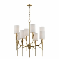 Hudson Valley 1304-AGB Tate Aged Brass Chandelier Light