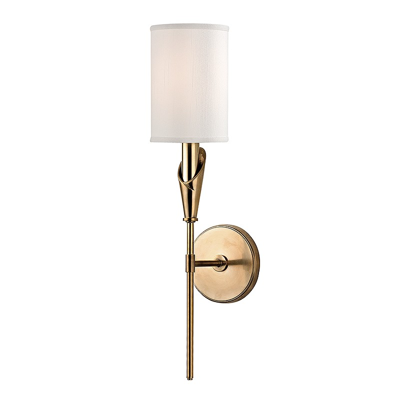 Aged Brass Wall Sconces : Hudson Valley 1311-AGB Tate Aged Brass Finish 19.75