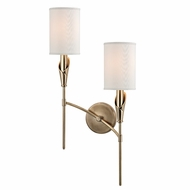 Hudson Valley 1312R-AGB Tate Aged Brass Finish 25  Tall Lamp Sconce