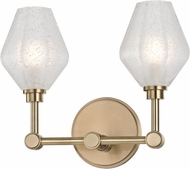 Hudson Valley 1322-AGB Orin Modern Aged Brass LED 2-Light Vanity Light