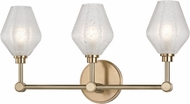 Hudson Valley 1323-AGB Orin Contemporary Aged Brass LED 3-Light Bathroom Light Fixture