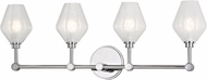 Hudson Valley 1324-PC Orin Contemporary Polished Chrome LED 4-Light Bath Sconce