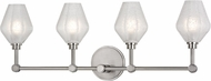 Hudson Valley 1324-SN Orin Modern Satin Nickel LED 4-Light Vanity Light Fixture