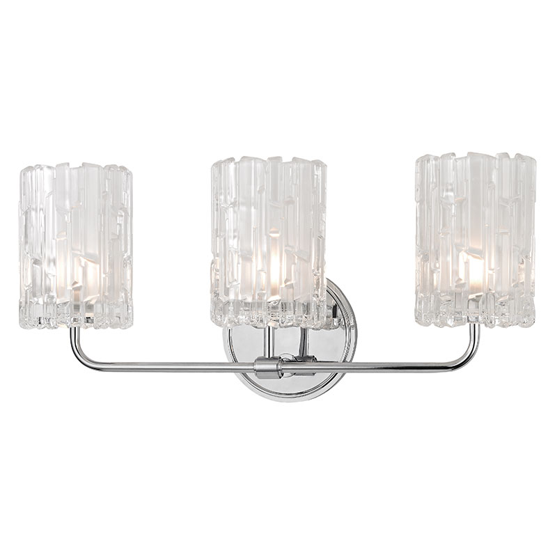 Hudson Valley 1333-PC Dexter Polished Chrome Xenon 3-Light Vanity Light Fixture - HUD-1333-PC