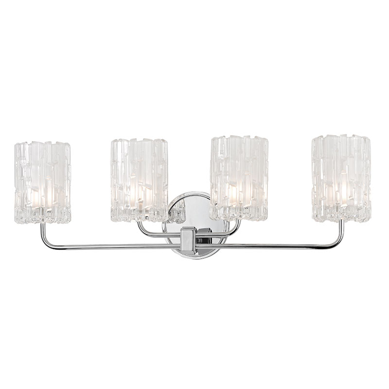 Bathroom Sconces Polished Chrome hudson valley 1334-pc dexter polished chrome xenon 4-light