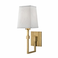Hudson Valley 1361-AGB Fletcher Modern Aged Brass Wall Light Sconce