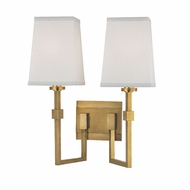 Hudson Valley 1362-AGB Fletcher Modern Aged Brass Wall Lighting